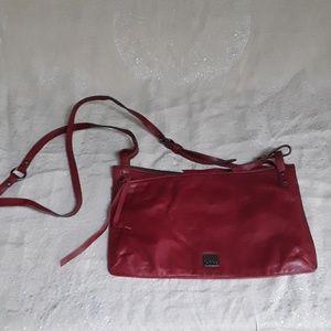 Kooba red leather crossbody bag